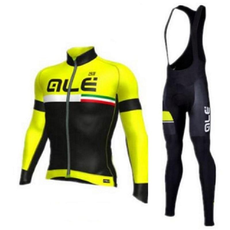 ALE 2018 Autumn Cycling Jersey long Sleeve Bicycle Cycling Clothing Bike Shirt MTB Riding Maillot Ropa Ciclismo Bib Pants