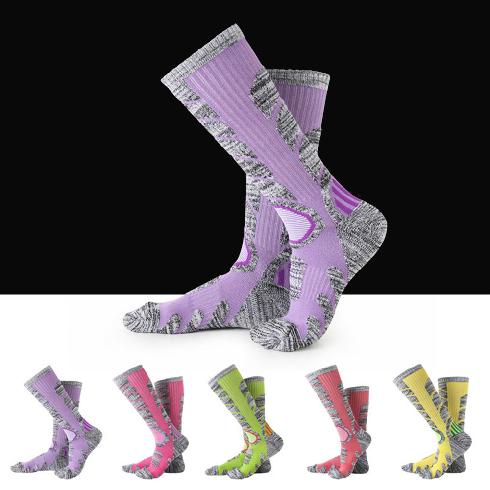 Knee Hose Decor Female Skiing Stockings Soft 1 Pair Outdoor Long Socks Durable 7 Color Accessories Cotton Sport