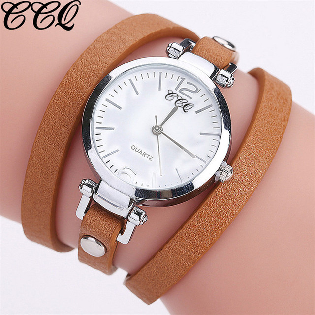 Women Watches Fashion Casual Bracelet Watch Women Relogio Leather Rhinestone Ana