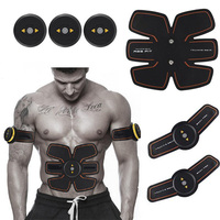 Wireless Smart EMS Abdominal Muscle Trainer Device Electric Body Massager Exerciser Stimulator Slimming Fitness Rechargable