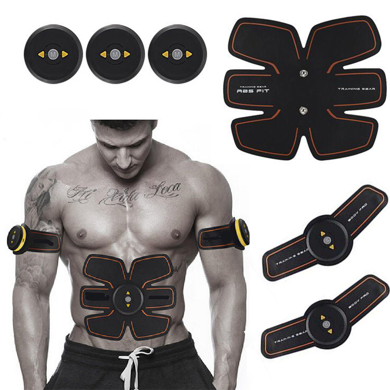 Wireless Smart EMS Abdominal Muscle Trainer Device Electric Body Massager Exerciser Stimulator Slimming Fitness Rechargable portable electric smart fitness gear equipment slim massager ems electrical muscle stimulator muscle stimulator training gear