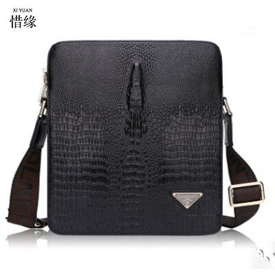 XIYUAN BRAND Men messenger crossbody shoulder bags luxury genuine leather male designer high quality casual business office bag