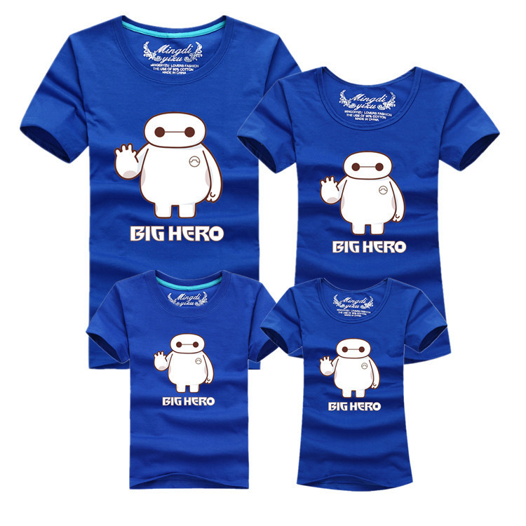 2015 Summer Family Matching Mother Daughter Clothes Outfits Father And Son Set Short Sleeve Big Hero 6 Baymax Cotton T Shirts Father And Son Father And Son Setfamily Matching Aliexpress