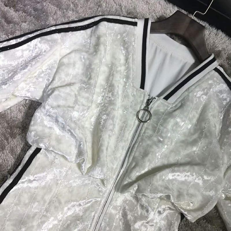 Stripe Piste 2018 Manches En Décontracté Qualité 4 Hiver De Ruches Robe 3 Robes Mini Designer Femmes Supérieure Velours Seifrmann wZpE4qq