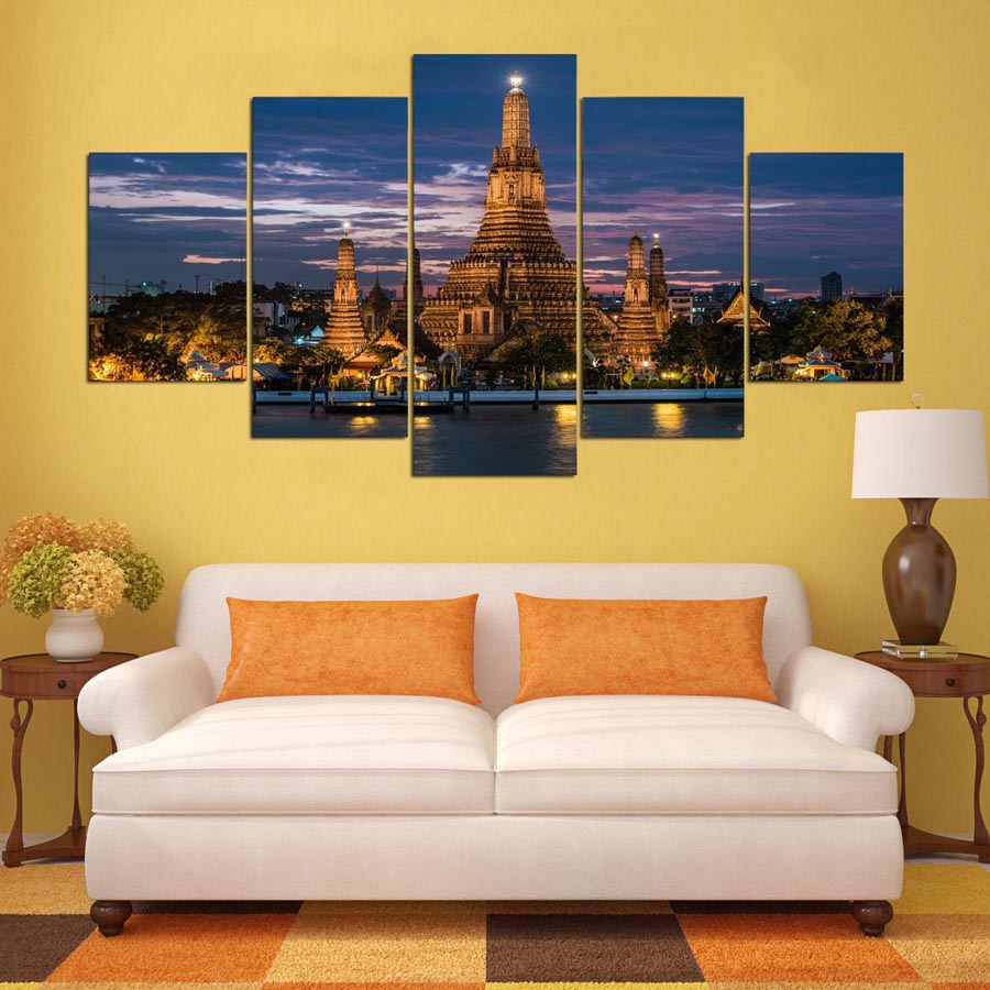 Modern Canvas Abstract Wall Art Poster Pictures Frame Home ...
