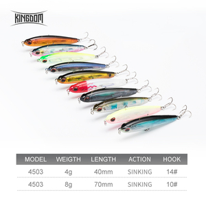 Image 2 - Kingdom Fishing Lures Slow Sinking Pencil Lure 70mm 8g, 40mm 4g Artificial Baits RockFishing Hard Bait wobblers Fishing Tackle