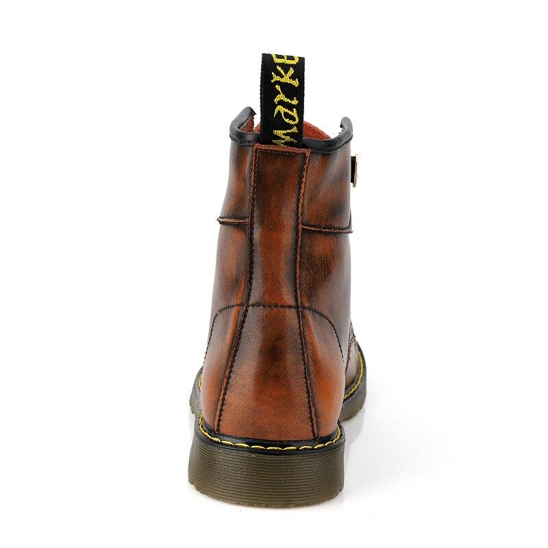 Hommes bottes hiver chaud fourrure Martin bottes grande taille 47 véritable cuir cheville neige bottes hommes chaussures antidérapant haut Botas Hombre - 3