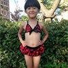 2015 Girls Child Swimsuit Kids Swimwear Girls Bikini Children Swimwear
