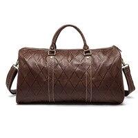 Wholesale Laptop Bag Europe And The Duffel Genuine Leather Shoulder Bag Large Leather Case Grain Handbag
