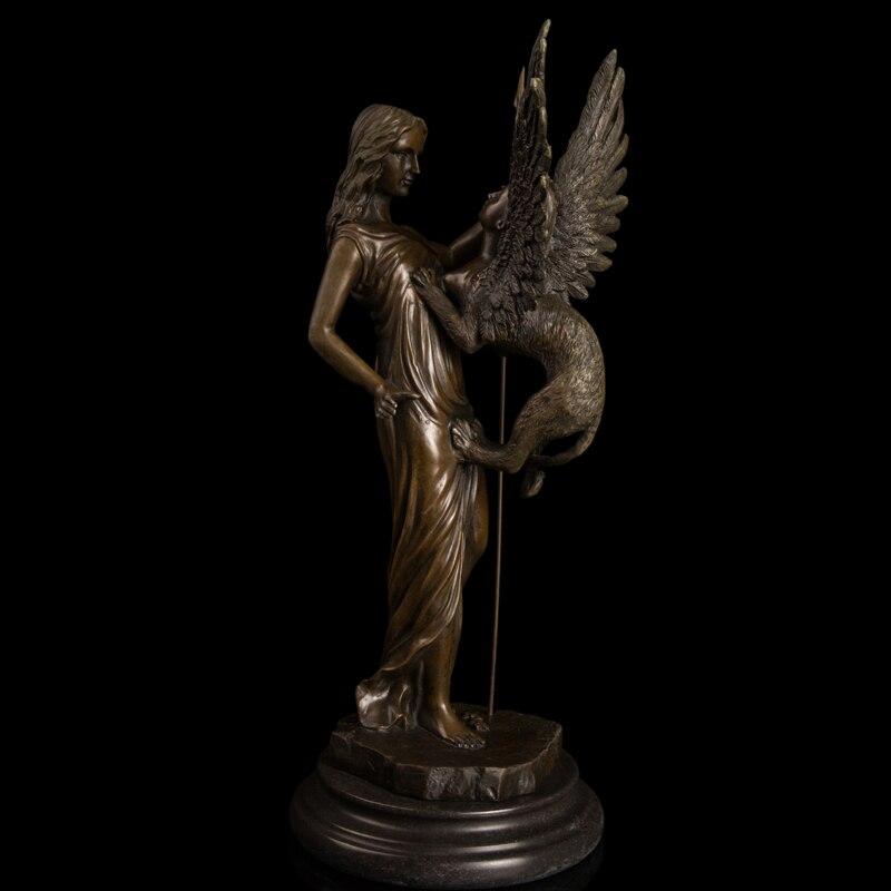 ATLIE Бронзовый западные скульптуры Миф Ангел статуи маленький монстр бронзовые статуэтки античный металл книги по искусству Декор подарки н
