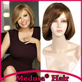 Medusa hair products: Classic bob style Synthetic pastel mono wig for women Medium length wavy Mix color wigs with bangs SW0006A