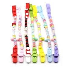 JOJOCHEW Baby Pacifier Clip Chain 7 Stil Nya Baby Pacifier Clips Nyfödd Dummy Pacifier Chain Clip Hållare Baby Julklapp