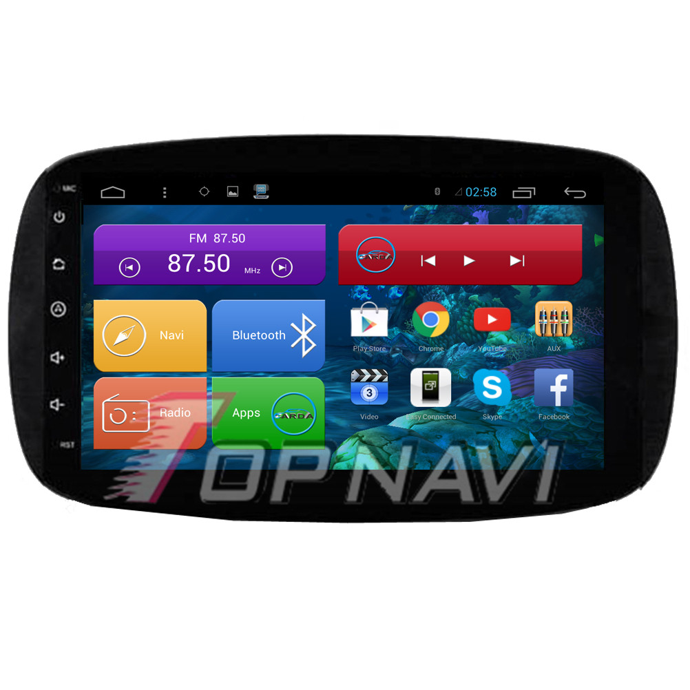 DHL Free Shipping Quad Core Android 4.4 Car Stereo for Smart 2012 2013 2014 2015 For Benz With GPS BT Map 16GB Flash Memory