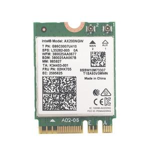 Image 3 - Беспроводная настольная карта для Intel AX200 AX200NGW 1730 Мбит/с NGFF M.2 Bluetooth 5,0 Двухдиапазонная Wi Fi сетевая карта 802.11AC/AX