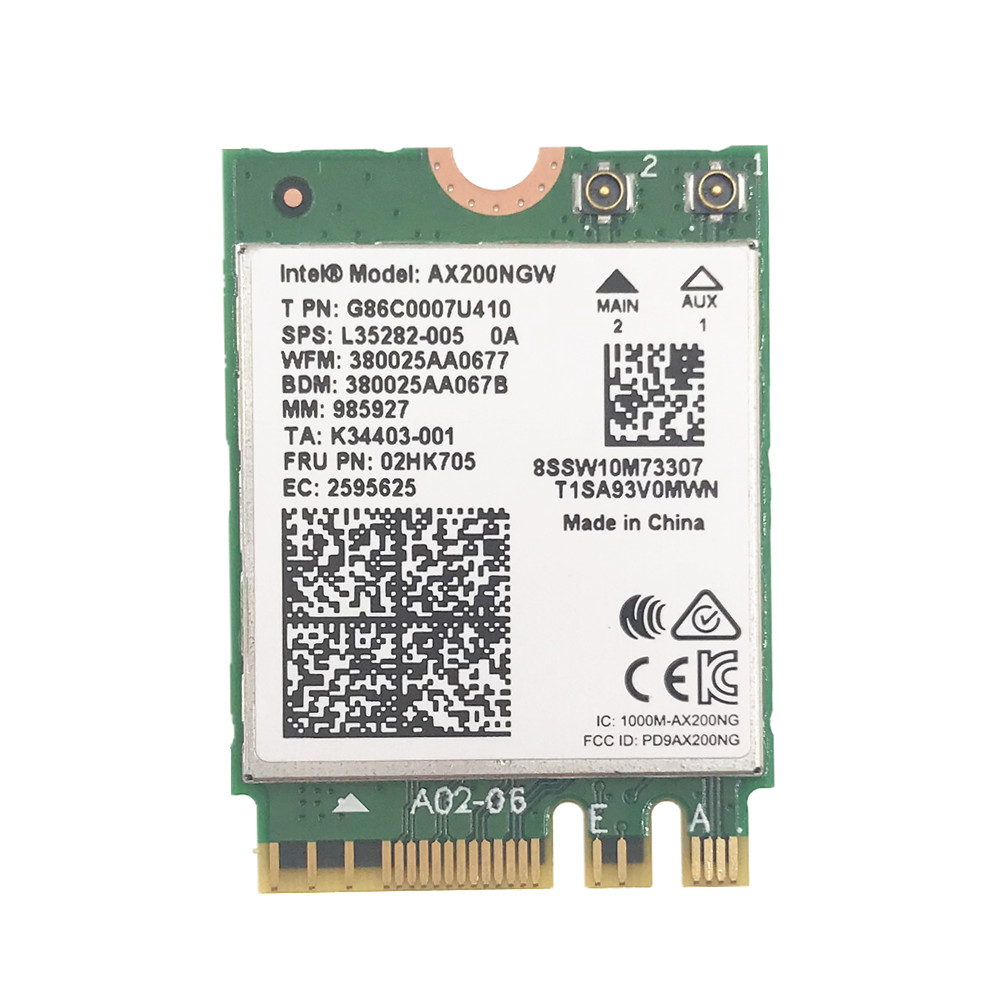 Image 2 - Wireless for Intel AX200 AX200NGW 1730Mbps NGFF M.2 Bluetooth 5.0 Dual Band Wifi Network Card 802.11ac/ax Better than Intel 9260-in Network Cards from Computer & Office