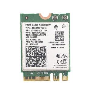 Image 2 - Z zestawem anten AC88U 8dbi + bezprzewodowa karta Intel Wi Fi AX200 Bluetooth 5.0 802.11ax/ac MU MIMO 2x2 Wifi NGFF AX200NGW