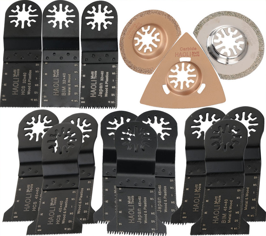 15 PCS Oscillating multi Tools Saw Blades Accessories fit for Multimaster power tools as Fein,TCH,Dremel etc, metal wood cutting рубашки