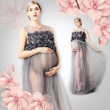 Для беременных реквизит для фотосессии Макси платье Фотосессия для беременных фотографии платья для беременных Одежда H67