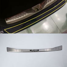 Stainless steel Exterior rear bumper foot plate Cover Trim  Car Styling For TOYOTA CH-R 2018 abs car accessories car body kits exterior rear bumper foot plate 1pcs for 2018 mercedes benz vito