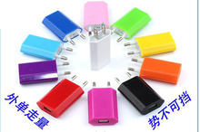 Hot selling Colorful Travel Wall Charging Charger Power Adapter European/USA Plug USB AC For Apple iPhone 5 5S 4 4S 3GS iPod