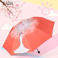 YADA Cartoon Girl Charm Folding Umbrella Rain Women uv High Quality Designer For Womens Brand Windproof Umbrellas YS222