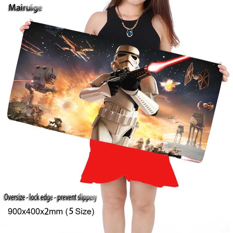 Mairuige Free Shipping Star War 900*400 Laptop Gaming Locking Edge Mouse pad Mat for LOL Dota2 CS Mouse Mice Pad for Game Player