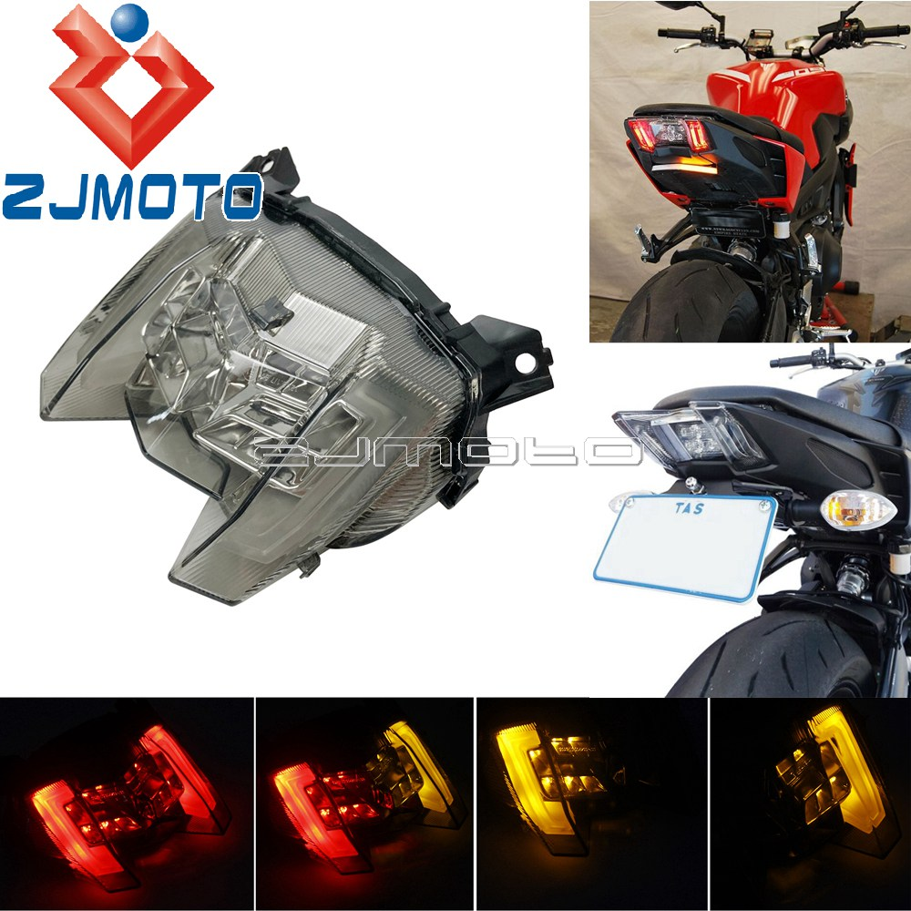Motorcycle Integrated LED Tail Light Taillights W/ Turn Signals Stop Light For Yamaha MT-09 FZ-09 MT09 FZ09 2017 2018 2019