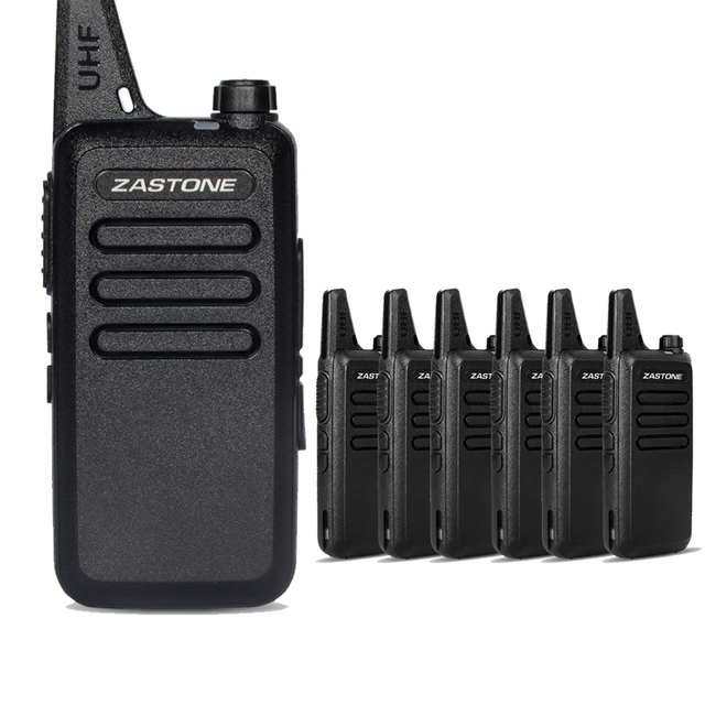 6pcs Zastone ZT-X6 Portable Walkie Talkie MINI Radio UHF 400-470MHZ Handheld Frequency Transceiver Communication Equipment