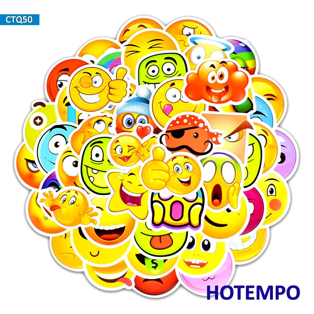 50pcs Funny Emoticon Smile Face Decor Emoji Stickers For For