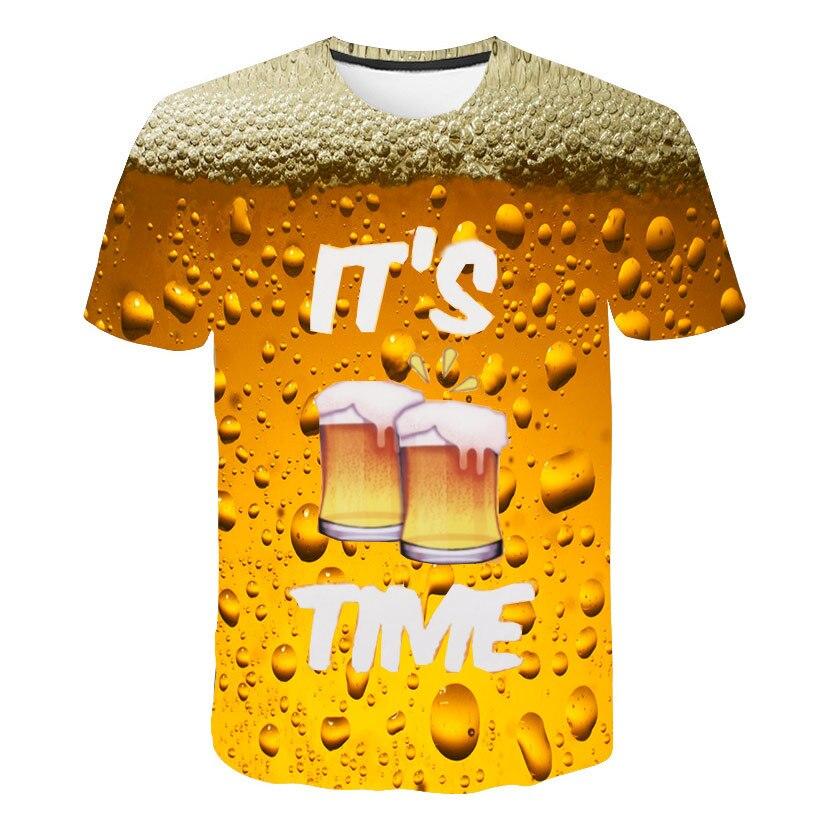 Verano fresco impresión de la cerveza camiseta novedad manga corta Camiseta Hombre Unisex de la alta calidad Causal Dropship camiseta