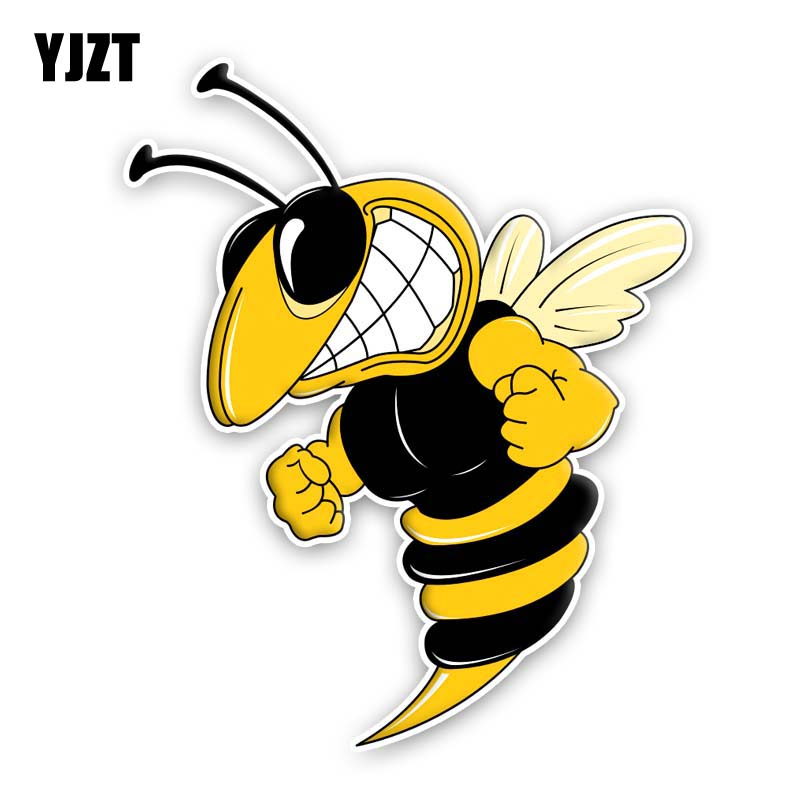 YJZT 13.2CM*16.2CM A Ferocious Bee PVC Sticker Car Originality Decal 12-300612