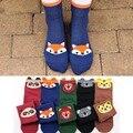 Estilo de primavera y verano de las señoras de tacón animal serie de dibujos animados de Corea femenina color puro algodón calcetines de las mujeres