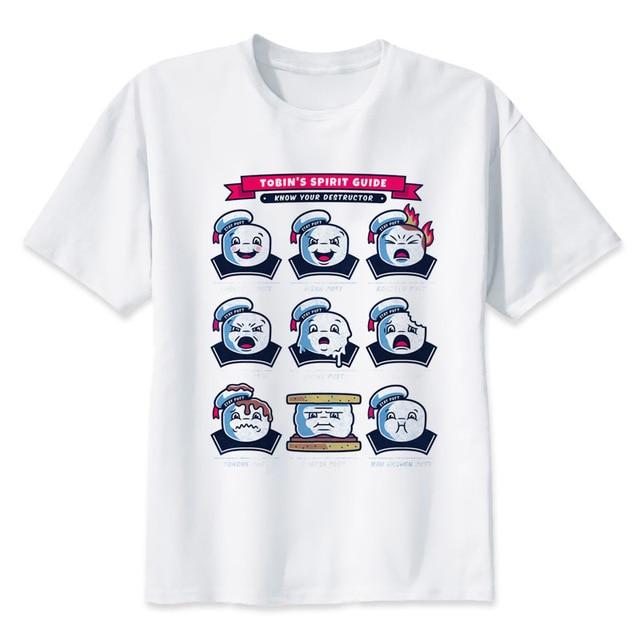 Ghostbusters T-shirt männer Sommer mode Hohe Qualität t-shirt casual weiß  druck Oansatz