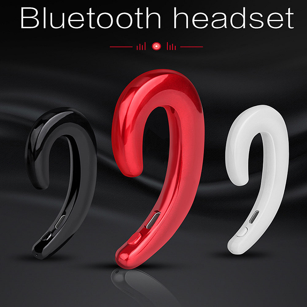 Ear-hook Bluetooth Wireless Headphones with Microphone, Non in Ear Small Noise Cancelling Earbuds Wireless Headset k9 bluetooth headset bluetooth v4 1 earbuds wireless earphone voice promote noise cancelling headphone for phone pc ear hook