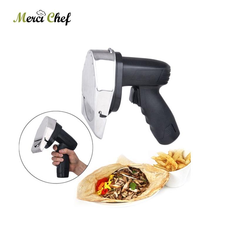 Food Processor Meat Shawarma Wireless Kebab Slicer with Battery Doner Knife Turkey Electric Gyros Cutting Meat Food Machine