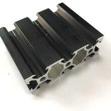 Черный Цвет V слот 2060 серии промышленных ЧПУ 3D печати машина Workbench линейный рельс алюминиевый профиль экструзии