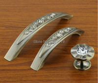 10pcs Lot Free Shipping Europen Classical Style 96mm Antique Diamond Drawer Cabinet Furmiture Handle Pull TC109