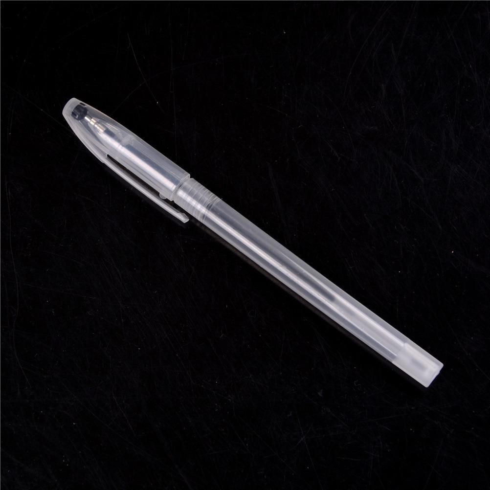 Caneta mágica tinta invisível desaparecer lentamente automaticamente a praticar caneta transparente pp caneta azul tinta piada brinquedos adereços piada