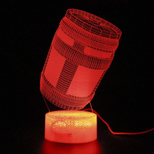 Lamp Game Battle Royale Remote Control Touch 3d Table Lamp Chug Jug Led Light Party Decoration Night Light Illusion