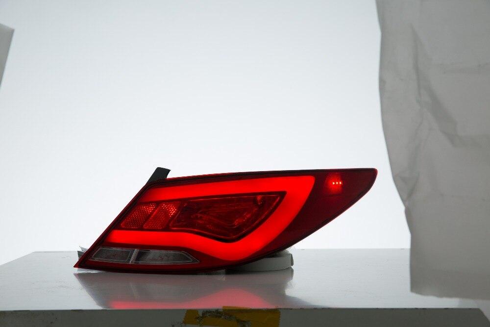 Бесплатная доставка для ВЛАНД Автомобильная заднего фонаря для Хендай акцент Солярис верна светодиодный фонарь 2010-2013 Год