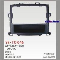 Liislee 2 DIN ABS Plastic Frame Radio Fascia For Toyota Alphard 2002~2008 Auto Stereo Interface Dash CD Trim Installation Kits