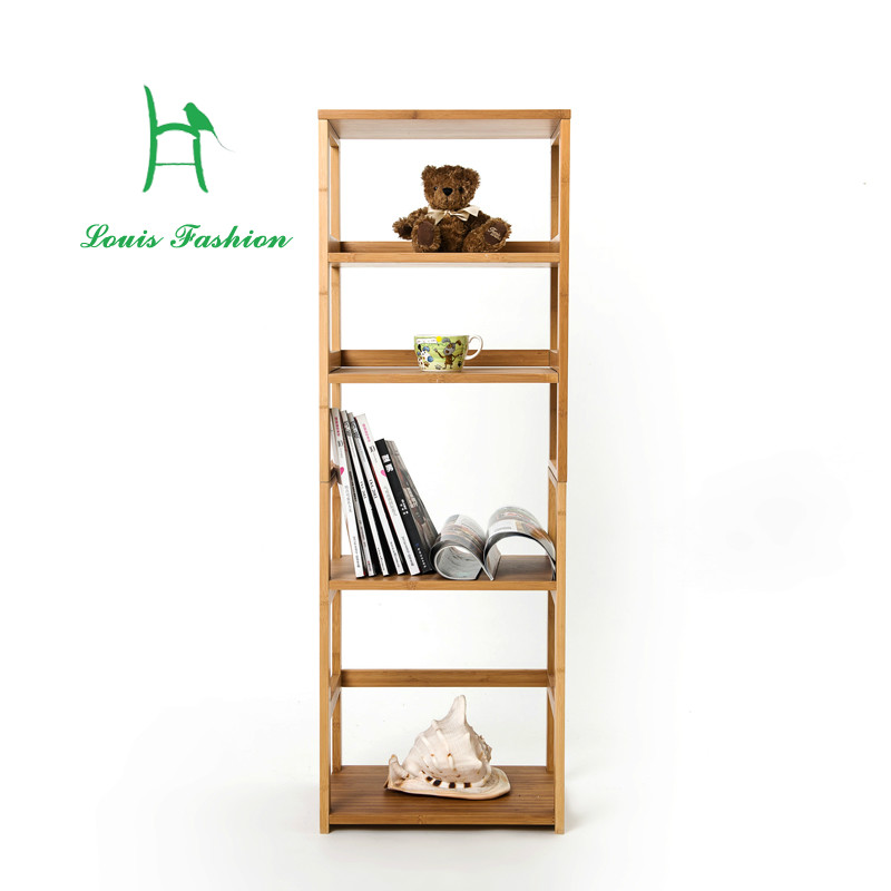 Solid bamboo freestyle convenient practical  bookcase or kitchen clapboard rak buku