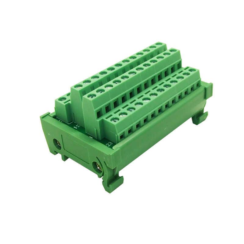 DIN Rail Mount 24 channels power supply distribution terminal blocks  splitter board Power Distribution Module board