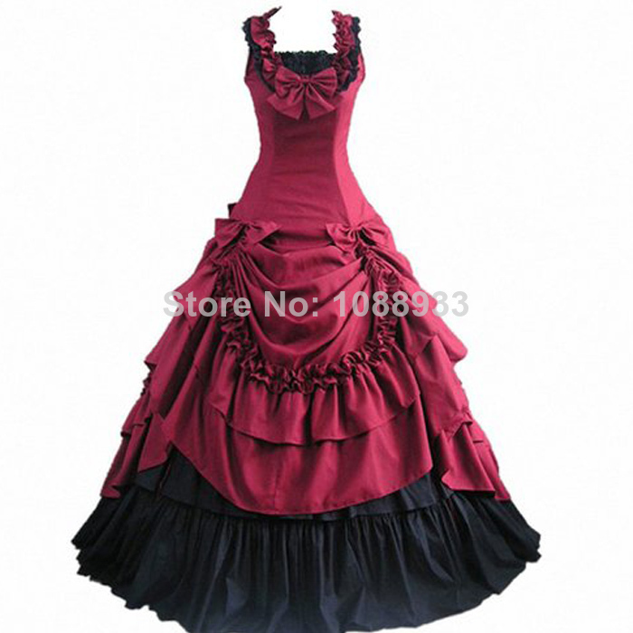 US $89.0 |Halloween costumes for women adult southern belle costume red  Victorian dress Ball Gown Gothic lolita dress plus size custom-in Lolita ...