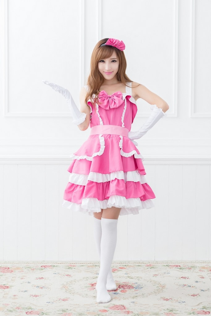 Halloween font b cosplay b font Costumes princess dress girl wonderland costume pink Princess Dress Wonderful