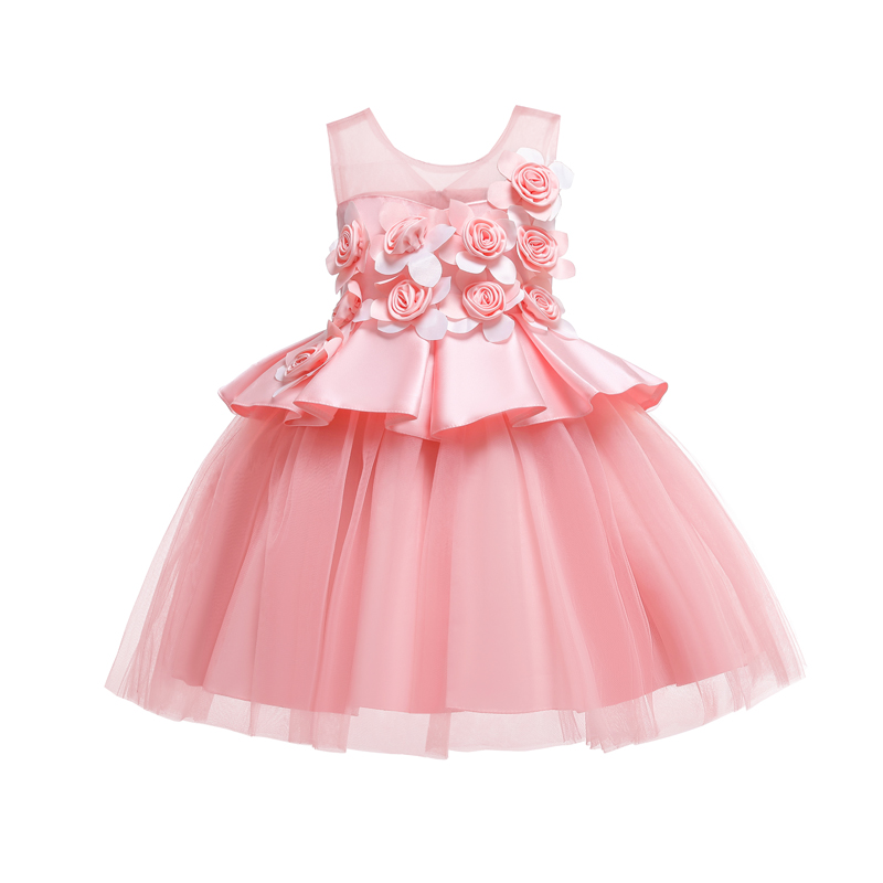 12 kids princess summer party dress for girls baby 3d children flower bridesmaid dress elegant for girls baby clothes12 kids princess summer party dress for girls baby 3d children flower bridesmaid dress elegant for girls baby clothes