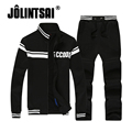 Jolintsai 2017 Hoodies Sweatshirt Pants Tracksuit Men Sudaderas Hombre Sportswear Men Spring  S-4XL Sweat Suit Men Hoodie