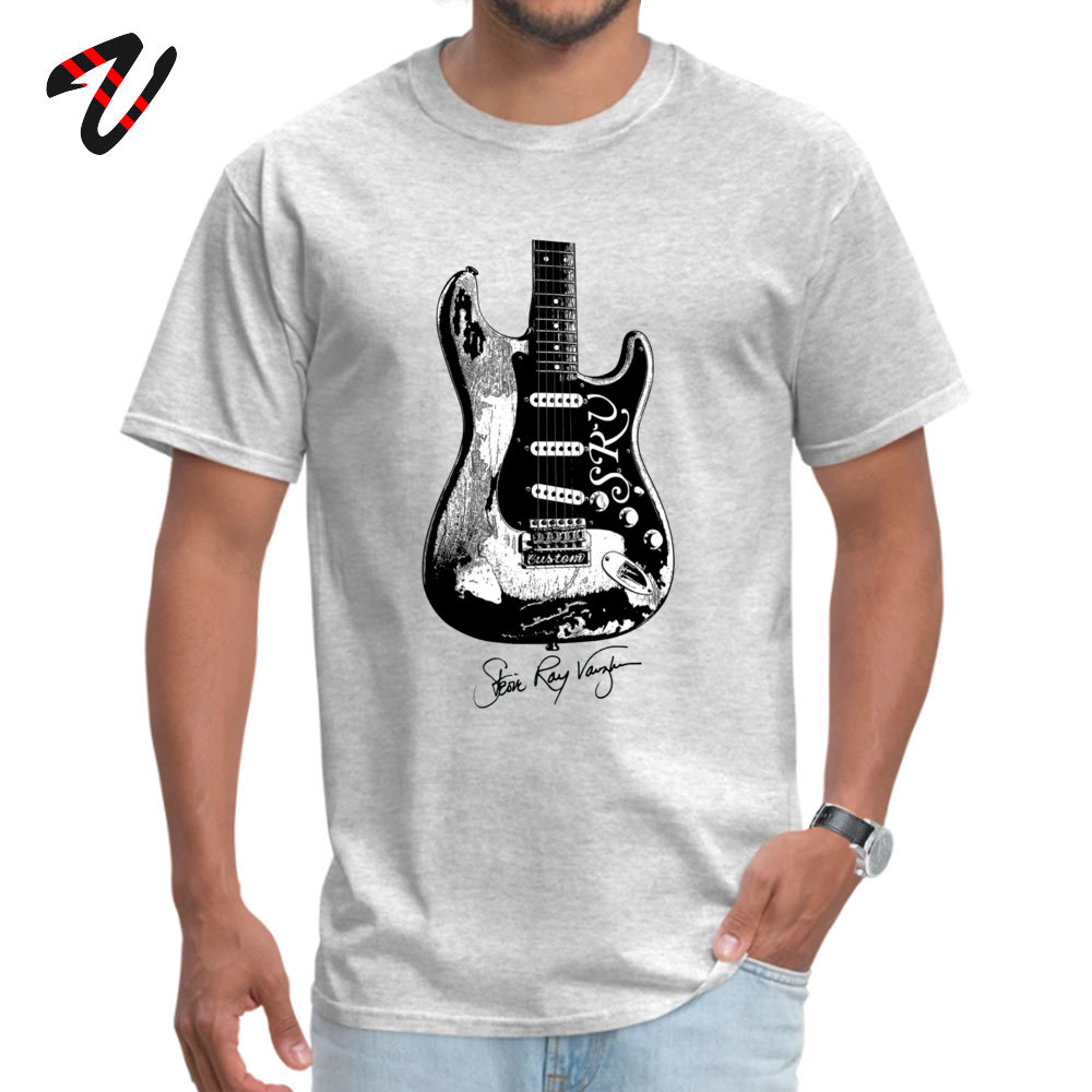 Normal Tshirts Funny Short Sleeve 2019 Newest O-Neck All Cotton Tees Normal Sweatshirts for Adult Summer Fall Drop Shipping Stevie Ray Vaughan Guitar Blues Rock legend grey