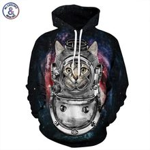 Mr 1991INC Europe America Fashion Men Women Hoodies 3d Print Robot Cat Space Hooded Sweatshirts Casual