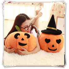 Cupcake dolls stuffed vegetables Halloween pumpkin pillow donut plush toy smiley face pillow food plush fruit cheap toys(China)